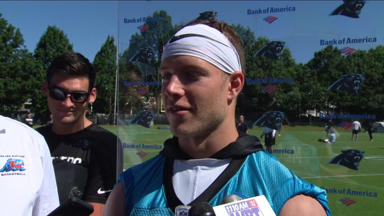 Panthers' McCaffrey talks about helping save a life