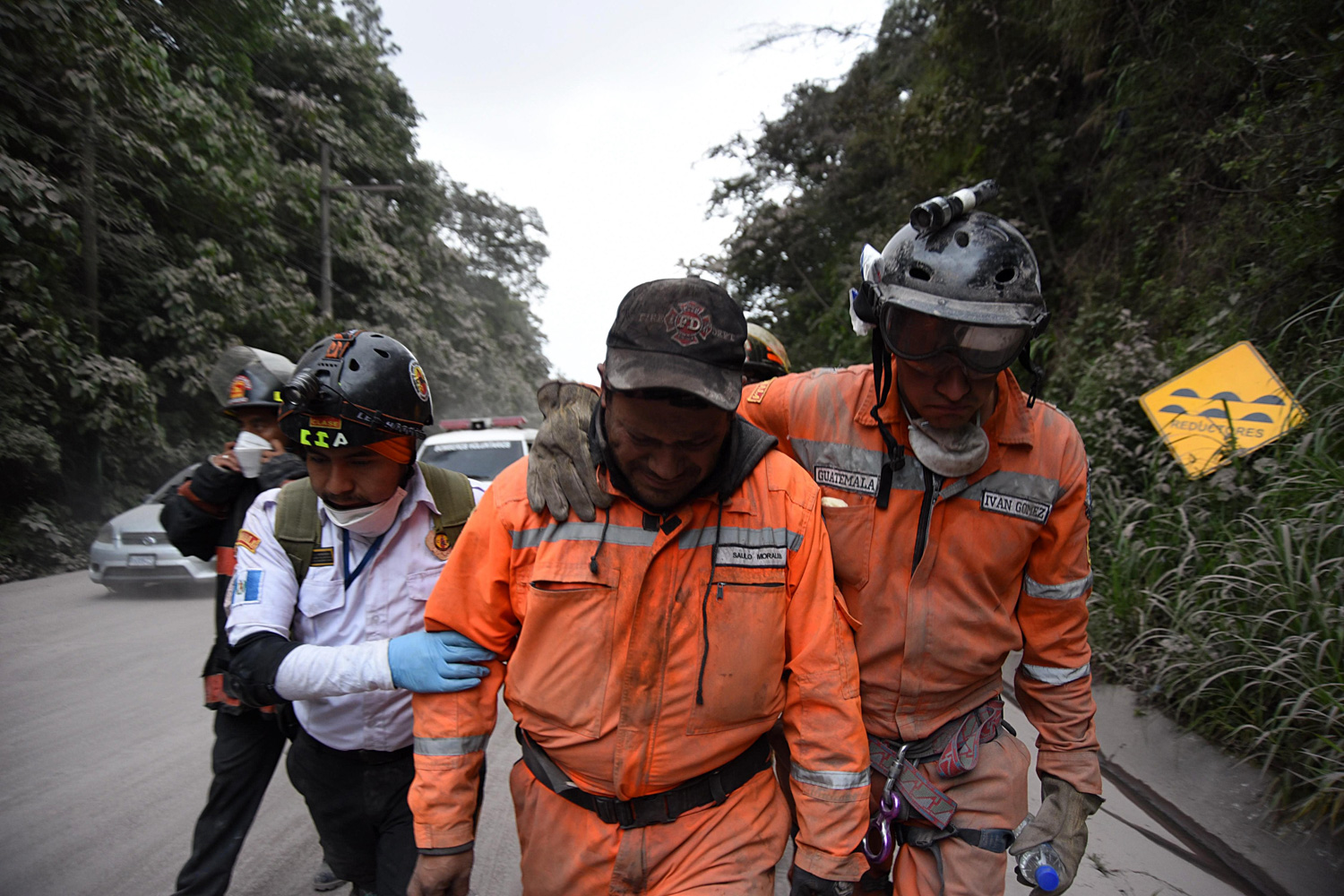 "<div class=""meta image-caption""><div class=""origin-logo origin-image none""><span>none</span></div><span class=""caption-text"">A volunteer firefighter cries after leaving El Rodeo village in Escuintla department, 35 km south of Guatemala City on June 3, 2018, following the eruption of the Fuego Volcano. (ORLANDO ESTRADA/AFP/Getty Images)</span></div>"