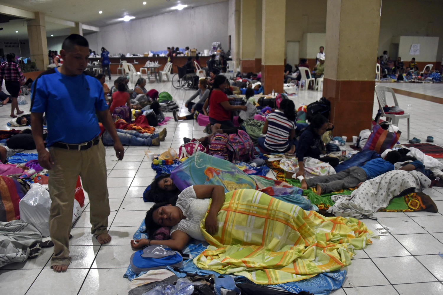 "<div class=""meta image-caption""><div class=""origin-logo origin-image none""><span>none</span></div><span class=""caption-text"">Residents of several communities safeguard in a temporary shelter in Escuintla department, 35 km south of Guatemala City on June 3, 2018, for fear of new outbursts of Fuego volcano (JOHAN ORDONEZ/AFP/Getty Images)</span></div>"