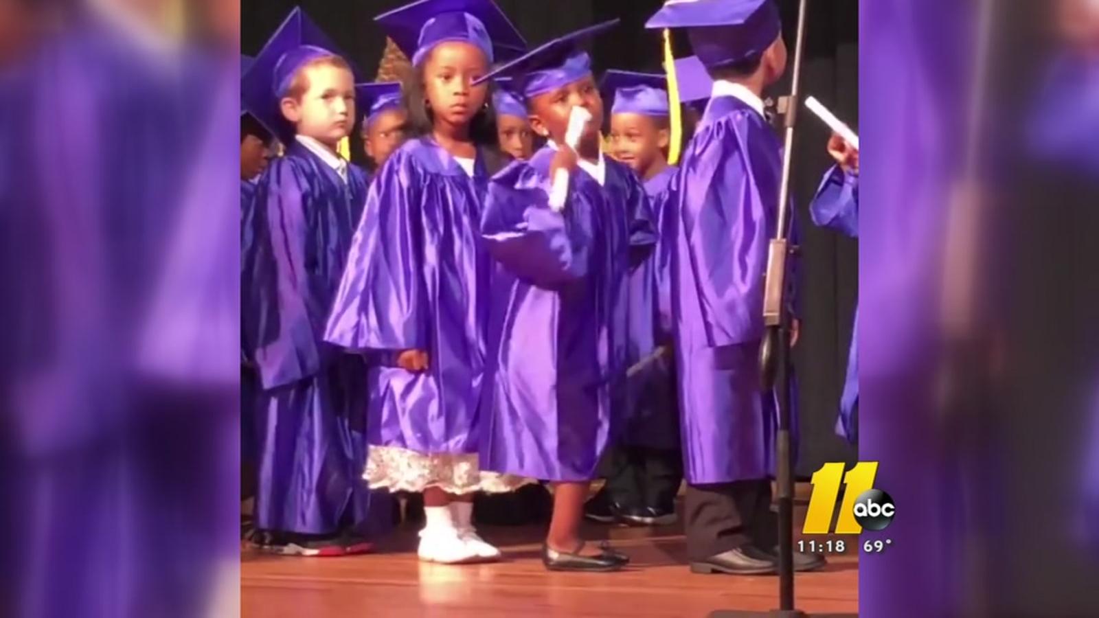5c38cf29c92 Dancing Durham 5-year-old steals show at Pre-K graduation