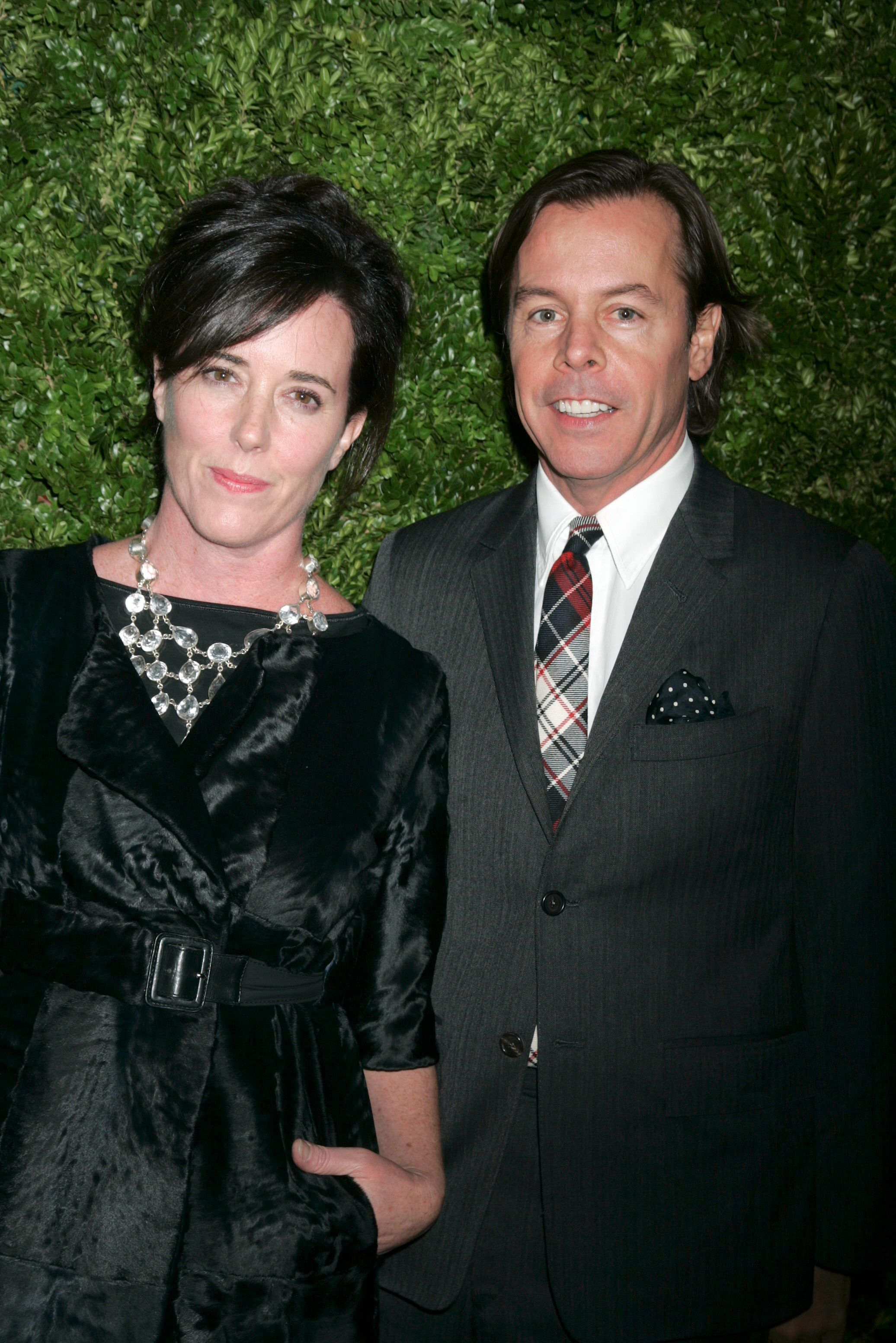 "<div class=""meta image-caption""><div class=""origin-logo origin-image none""><span>none</span></div><span class=""caption-text"">Kate Spade and Andy Spade at the CFDA/Vogue Fashion Fund in New York in 2008 (Gregory Pace/BEI/REX/Shutterstock)</span></div>"