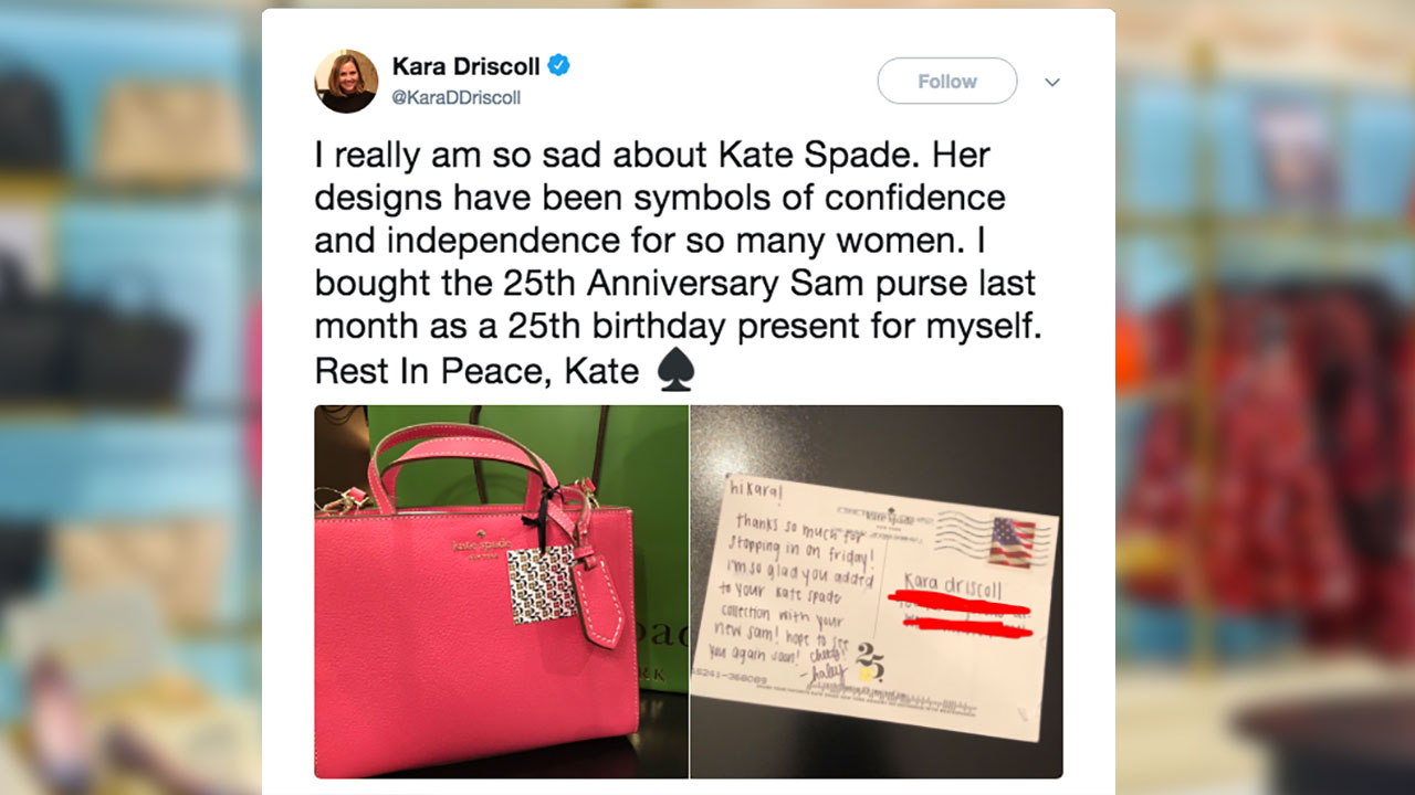 Kate Spades Death Prompts Fans To Share Memories Of Renowned