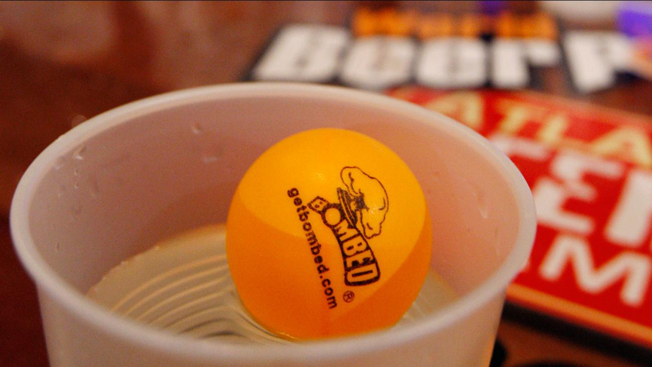 beer pong ball