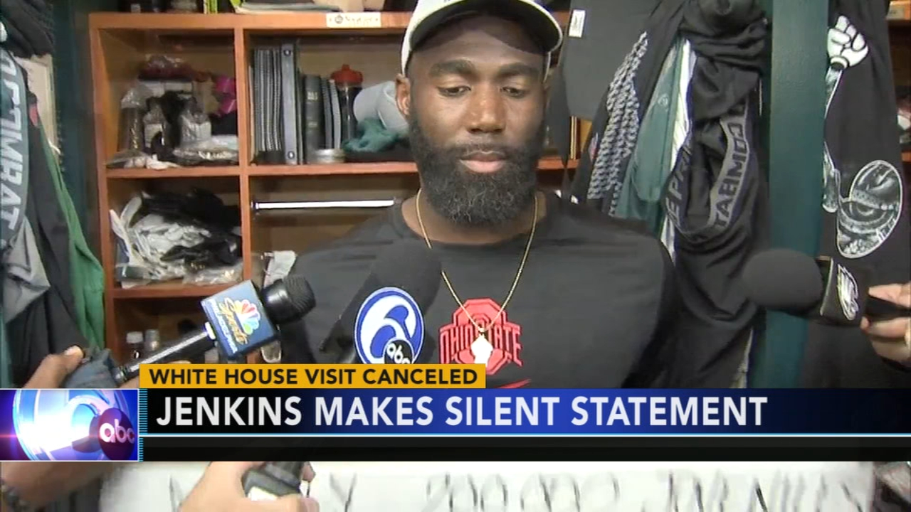 d5a6c78d2e0 Eagles safety Malcolm Jenkins responds to White House snub with signs