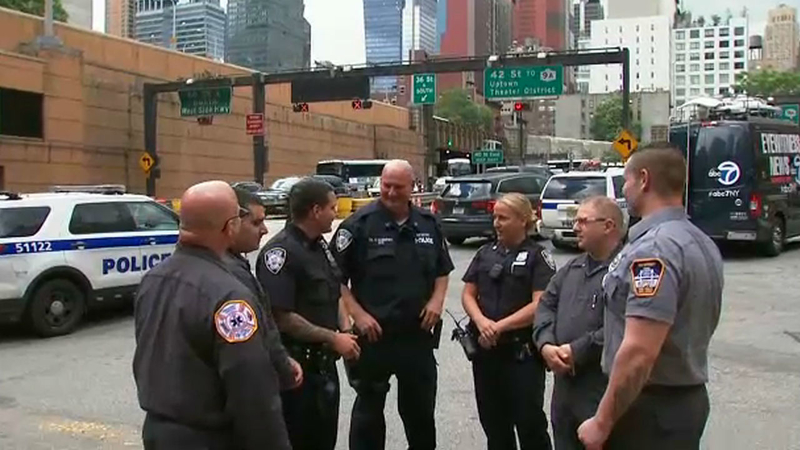 Port Authority officers save man in cardiac arrest