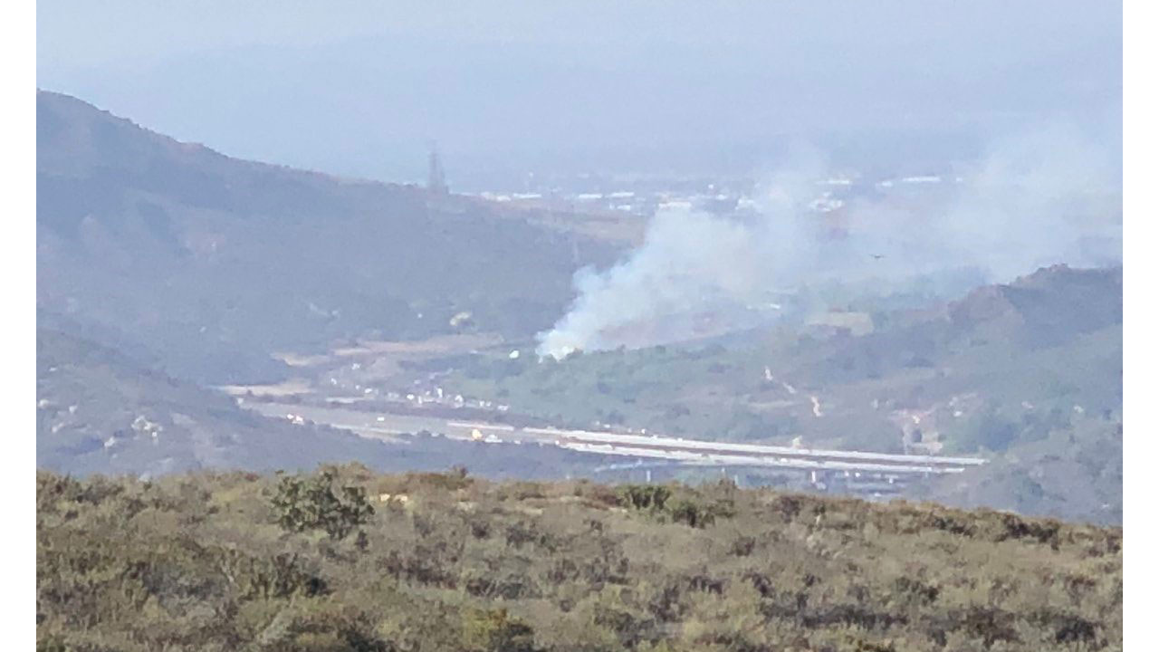 Three separate brush fires were burning in Laguna Beach Wednesday, according to Orange County fire officials.