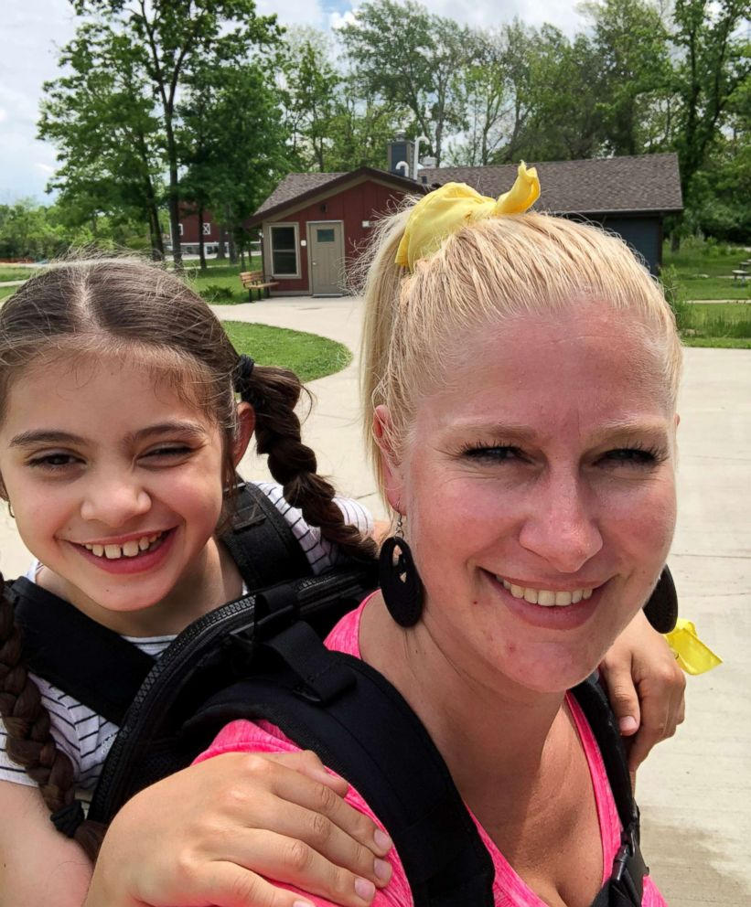 <div class='meta'><div class='origin-logo' data-origin='none'></div><span class='caption-text' data-credit='Helma Wardenaar'>Chicago teacher Helma Wardenaar bought a special backpack to carry one a special needs student so that she could attend an annual class camping trip.</span></div>