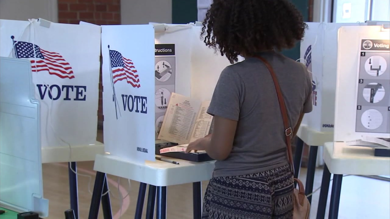 A woman votes at her polling place in San Francisco on Tuesday, June 5, 2018.