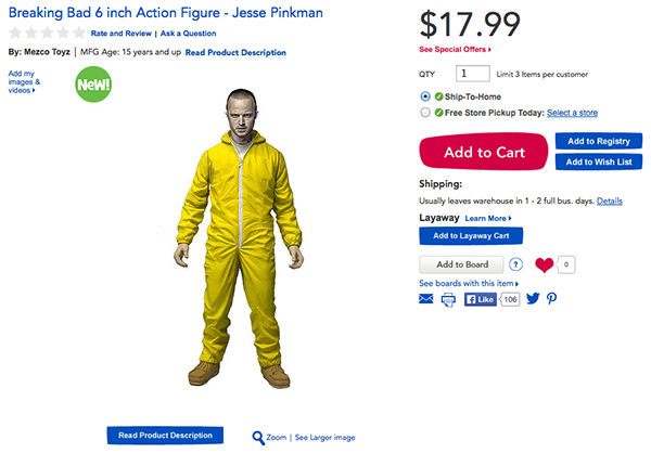 """<div class=""""meta image-caption""""><div class=""""origin-logo origin-image """"><span></span></div><span class=""""caption-text"""">Jesse Pinkman's figurine includes """"gas mask, chili powder, and a tray of blue crystal."""" (Photo/Toys R Us)</span></div>"""