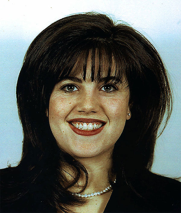"<div class=""meta image-caption""><div class=""origin-logo origin-image ""><span></span></div><span class=""caption-text"">Monica Lewinsky is shown in a photo released by the Department of Defense where she worked from April 1996 until Dec. 26, 1997. (AP Photo/Department of Defense)</span></div>"