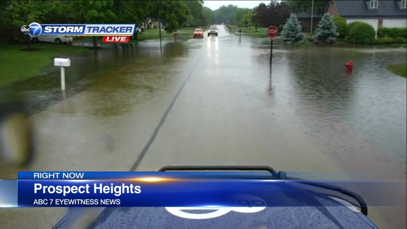 Chicago Weather Heavy Rain Causes Flooding In Northern Suburbs