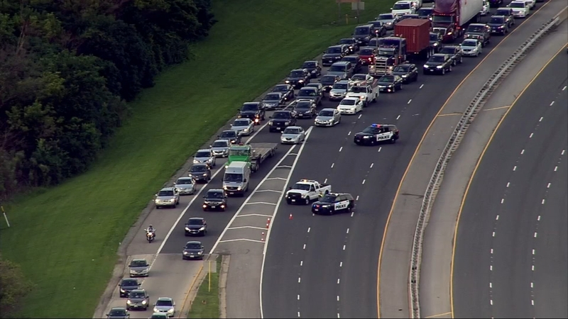 Heavy traffic on Route 83 due to police activity