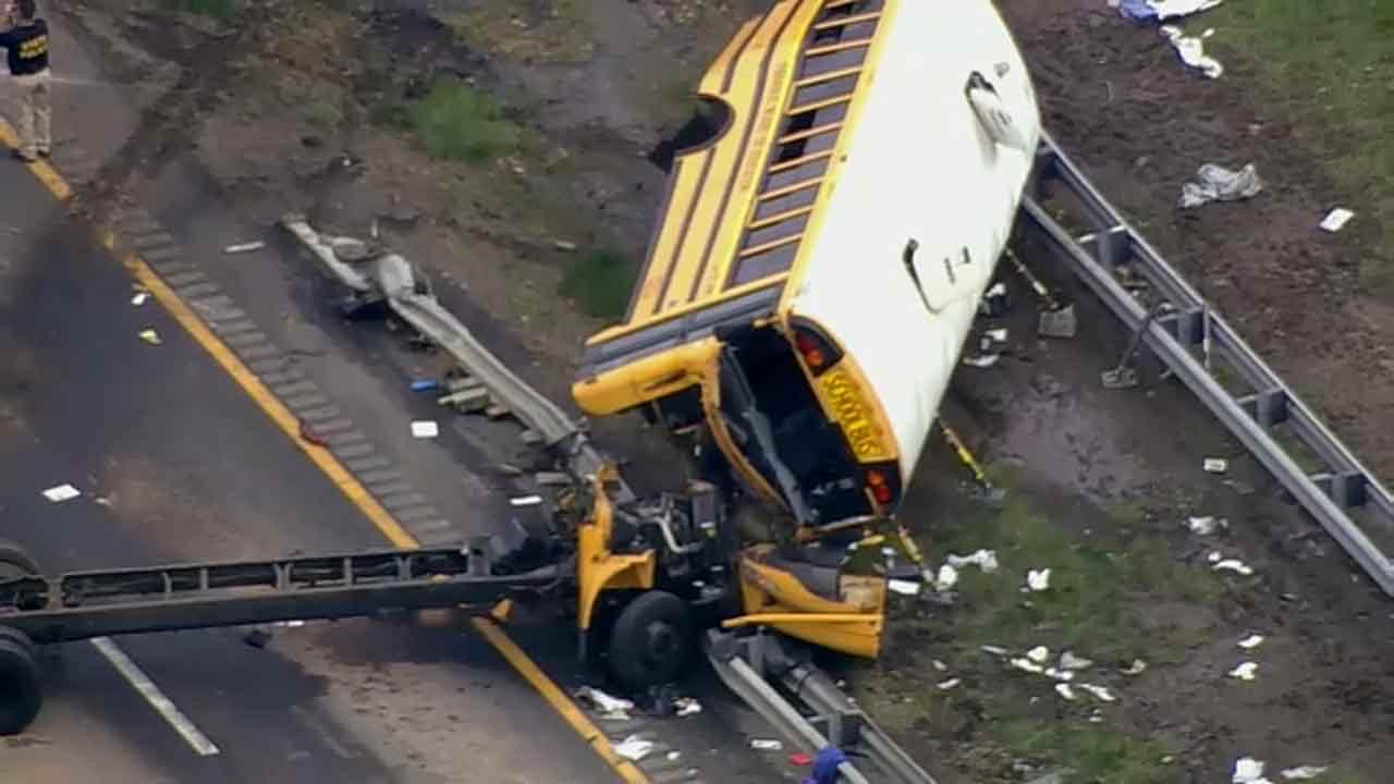 School bus crash in new jersey yesterday
