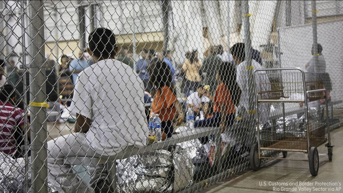 Image of immigration facility in McAllen, Texas,