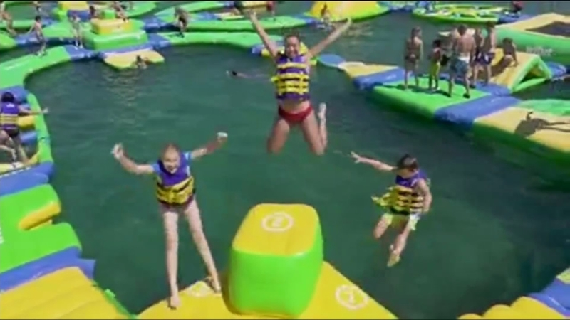 b1e8a065ab3 Floating water park comes to Merced County | abc30.com