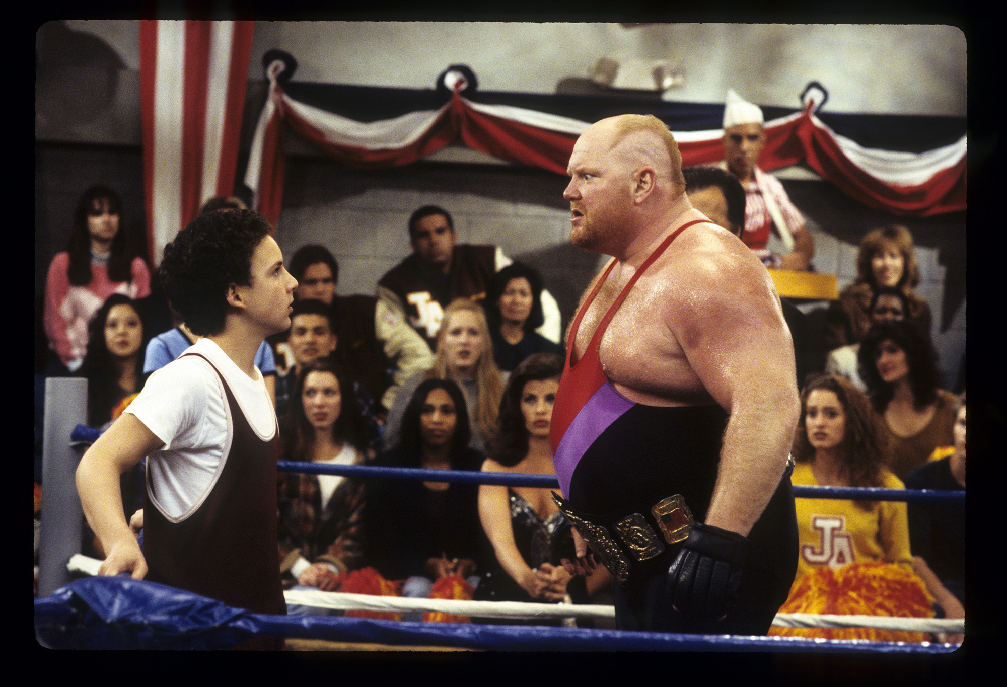 <div class='meta'><div class='origin-logo' data-origin='none'></div><span class='caption-text' data-credit='ABC Photo Archives/ABC via Getty Images'>Wrestler Leon White, known as Vader, died on June 18, from heart complications, according to his son. In this 1995 photo he is seen filming a scene for &#34;Boy Meets World.&#34;</span></div>