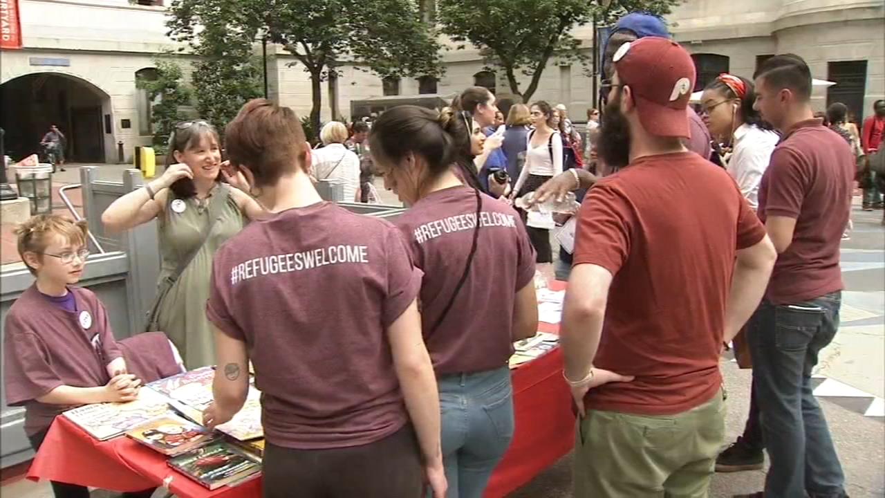 Philadelphians gather for World Refugee Day, react to