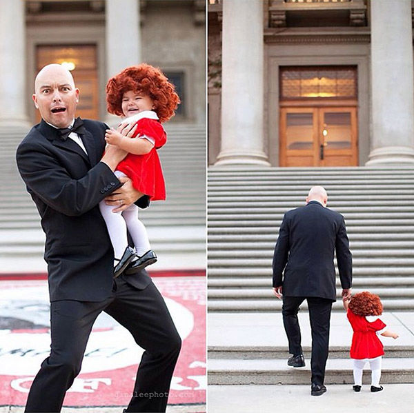 <div class='meta'><div class='origin-logo' data-origin='none'></div><span class='caption-text' data-credit='Gina Lee'>Willow with her dad as Annie and Daddy Warbucks.</span></div>