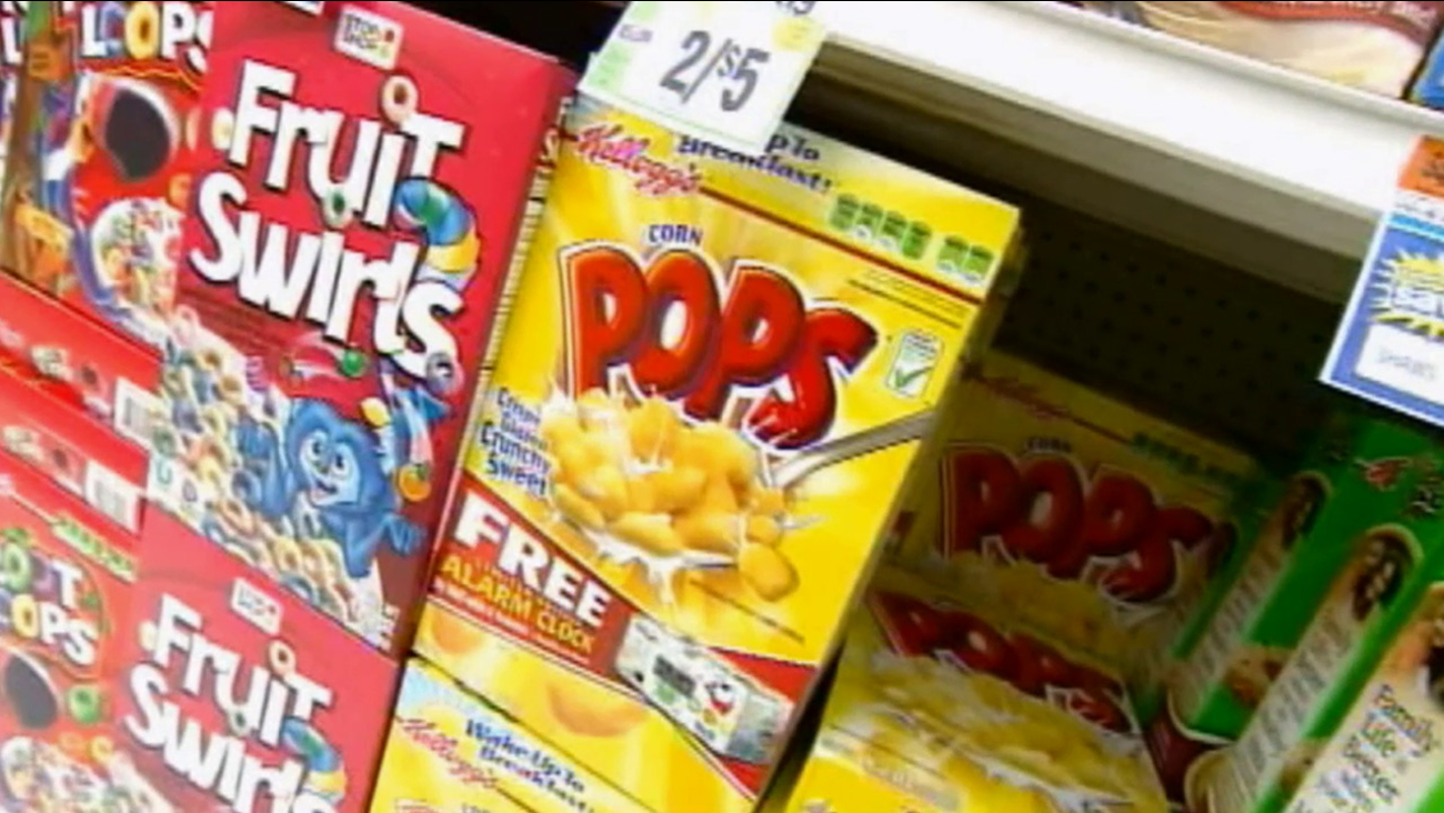 Boxes of cereals are shown in this undated file photo.