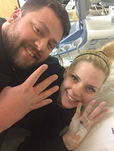 """<div class=""""meta image-caption""""><div class=""""origin-logo origin-image """"><span></span></div><span class=""""caption-text"""">UPDATE: Ashley and Tyson Gardner, who are expecting quadruplets, were happy to report four heartbeats following life-saving surgery. (Photo/Facebook, A Miracle Unfolding-Gardner Quadruplets)</span></div>"""