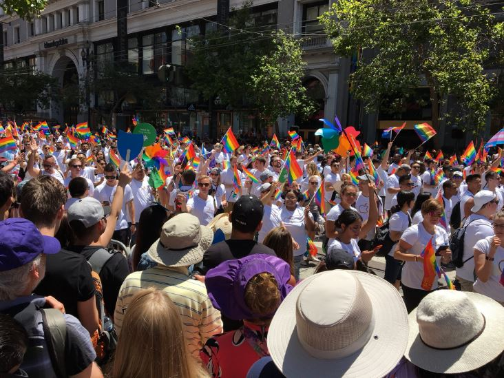 """<div class=""""meta image-caption""""><div class=""""origin-logo origin-image none""""><span>none</span></div><span class=""""caption-text"""">Participants are seen in the Pride Parade in San Francisco on Sunday, June 24, 2018.</span></div>"""