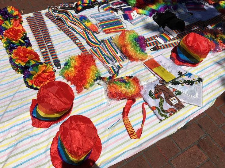 """<div class=""""meta image-caption""""><div class=""""origin-logo origin-image none""""><span>none</span></div><span class=""""caption-text"""">Goodies are seen at the Pride Parade in San Francisco on Sunday, June 24, 2018.</span></div>"""