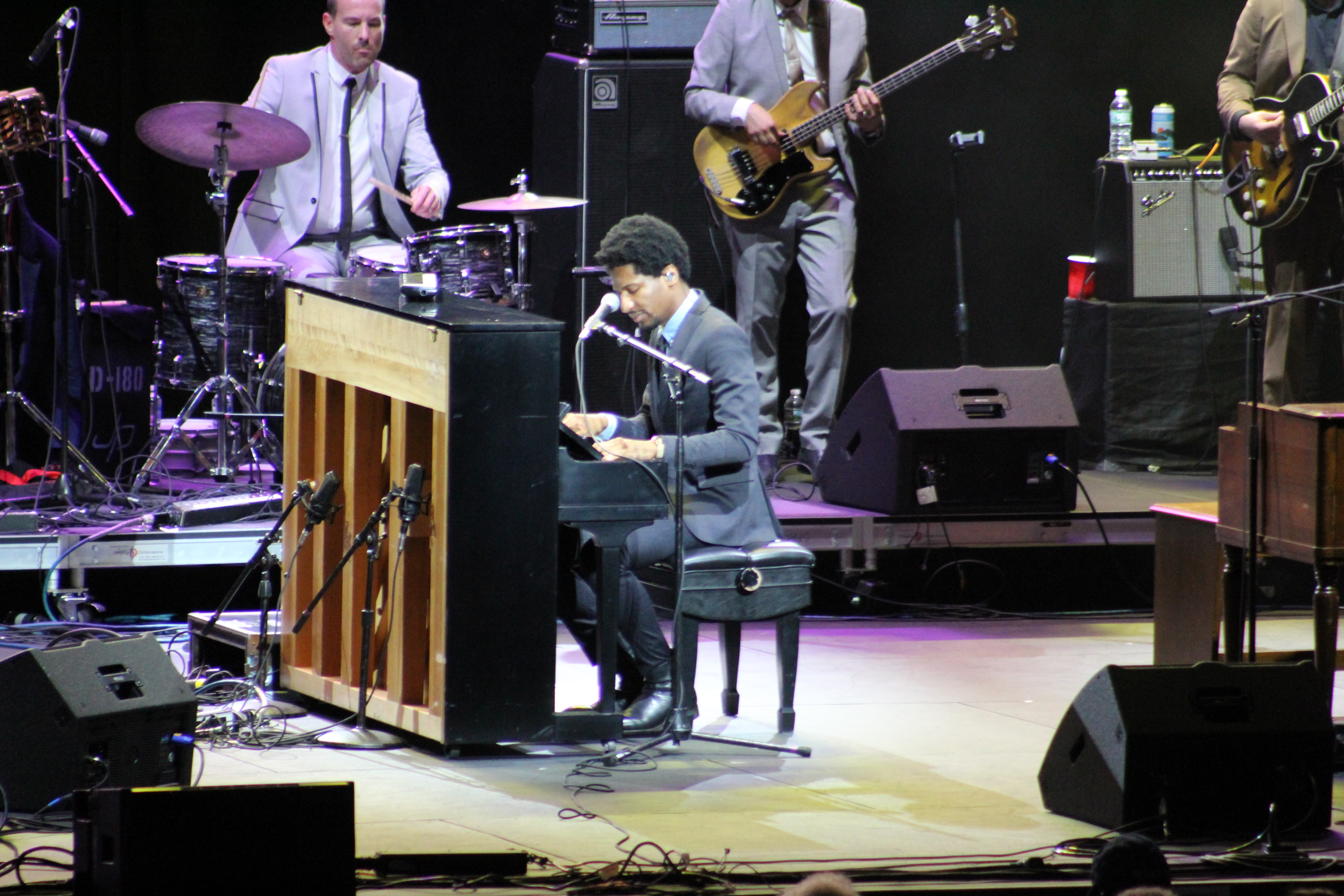 "<div class=""meta image-caption""><div class=""origin-logo origin-image wabc""><span>WABC</span></div><span class=""caption-text"">Jon Batiste with the Dap-Kings closed out the 2018 Freihofer's Saratoga Jazz Festival on the Amphitheatre Main Stage Sunday Night. (Calvin B. De Mond)</span></div>"