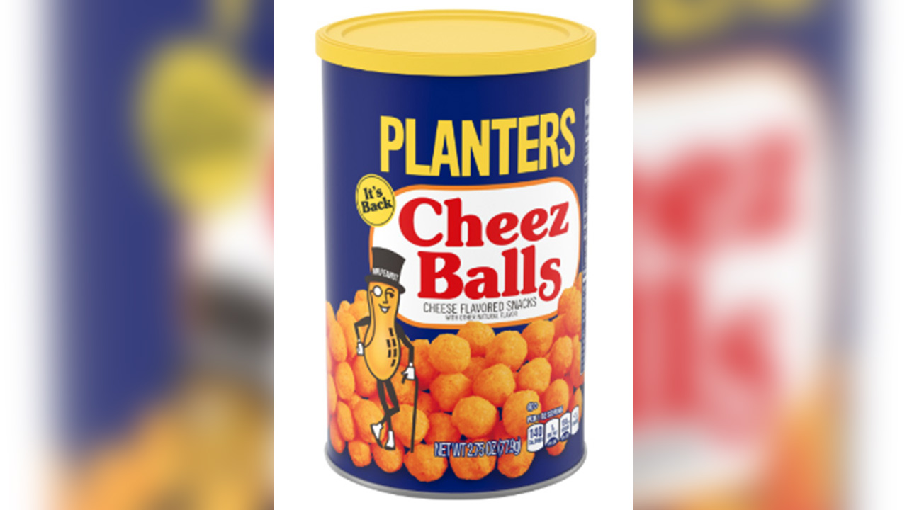 Planters Cheez Balls returning after 12 years | abc7ny.com on mr. peanut, planters peanuts, stove top stuffing, kraft cheese nips, a1 steak sauce, planters cheese puffs, oscar mayer, planters cheese curls, bingo balls, nike soccer balls, planters product, prince polo, miracle whip, kraft singles, planters cheese ba s, planters honey roasted cashews, boca burger,