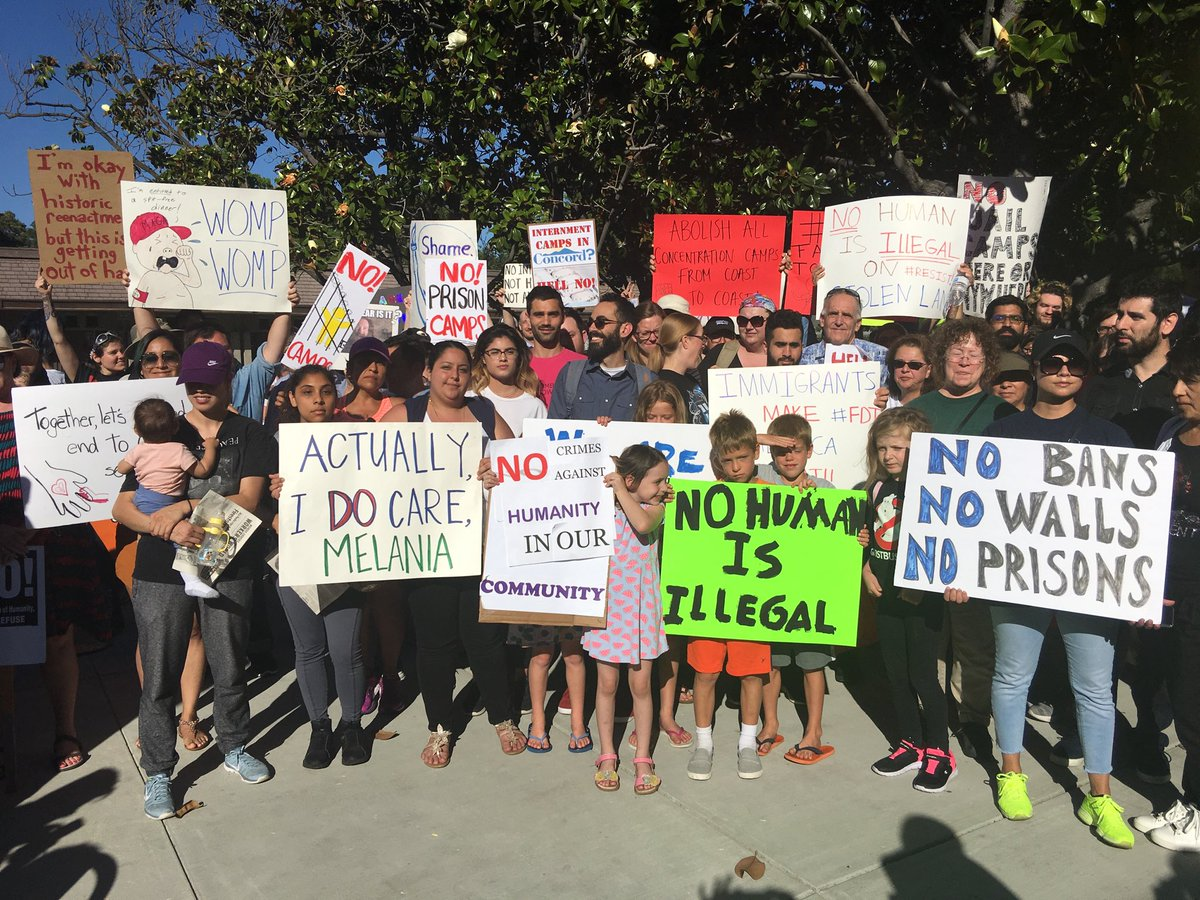 "<div class=""meta image-caption""><div class=""origin-logo origin-image none""><span>none</span></div><span class=""caption-text"">Protesters rally against a plan to have a detention center for immigrants in Concord, Calif. on Tuesday, June 26, 2018. (KGO-TV)</span></div>"