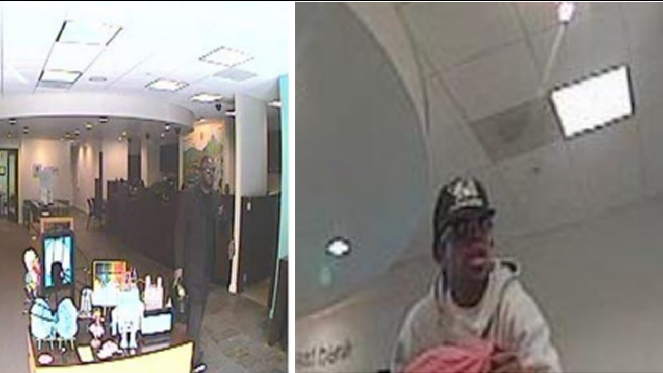 San Francisco police and the FBI are asking the public to help identify two suspects in a violent, armed takeover-style bank robbery.