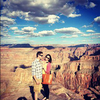 <div class='meta'><div class='origin-logo' data-origin='none'></div><span class='caption-text' data-credit='The Brittany Maynard Fund'>Brittany and her husband Dan Diaz at the Grand Canyon.</span></div>