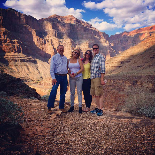 <div class='meta'><div class='origin-logo' data-origin='none'></div><span class='caption-text' data-credit='The Brittany Maynard Fund'>Brittany (third from left) and her family at the Grand Canyon.</span></div>