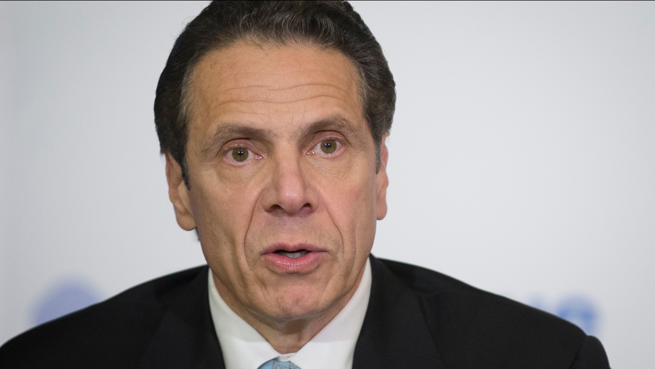 New York Gov. Andrew Cuomo speaks during a news conference at Bellevue Hospital Thursday, Oct. 23, 2014, in New York.