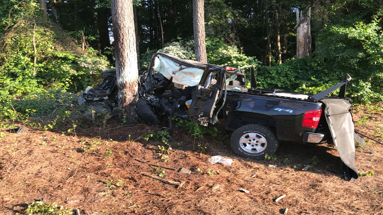 Troopers believe a man fell asleep while driving on I-95 and crashed his truck