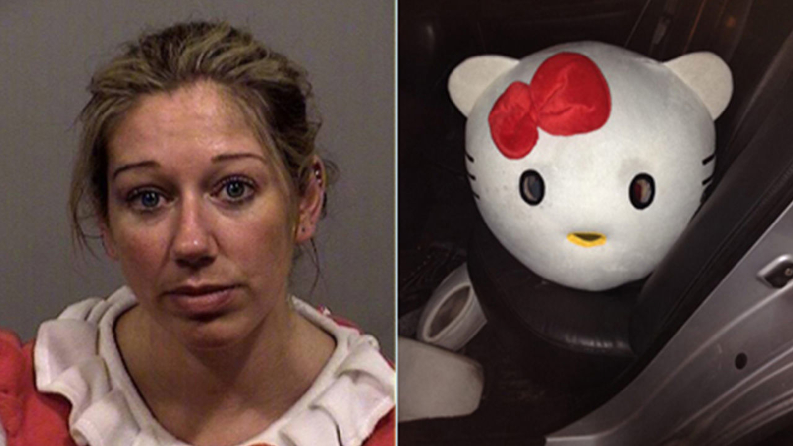 Mugshot: Woman pulled over while wearing Hello Kitty costume, police
