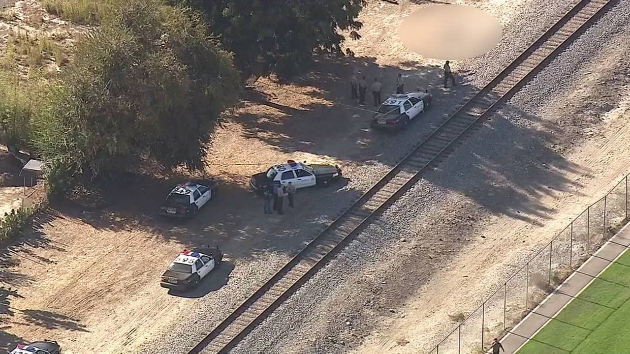 The scene of a deputy-involved shooting near Paramount High School on Monday, Oct. 27, 2014.