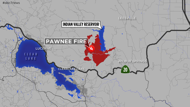MAPS: A look at the \'Pawnee Fire\' burning in Lake County near ...