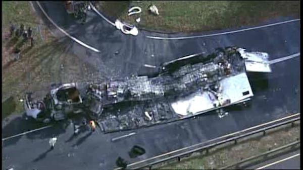 PHOTOS: Merritt Parkway tractor-trailer crash   abc7ny com