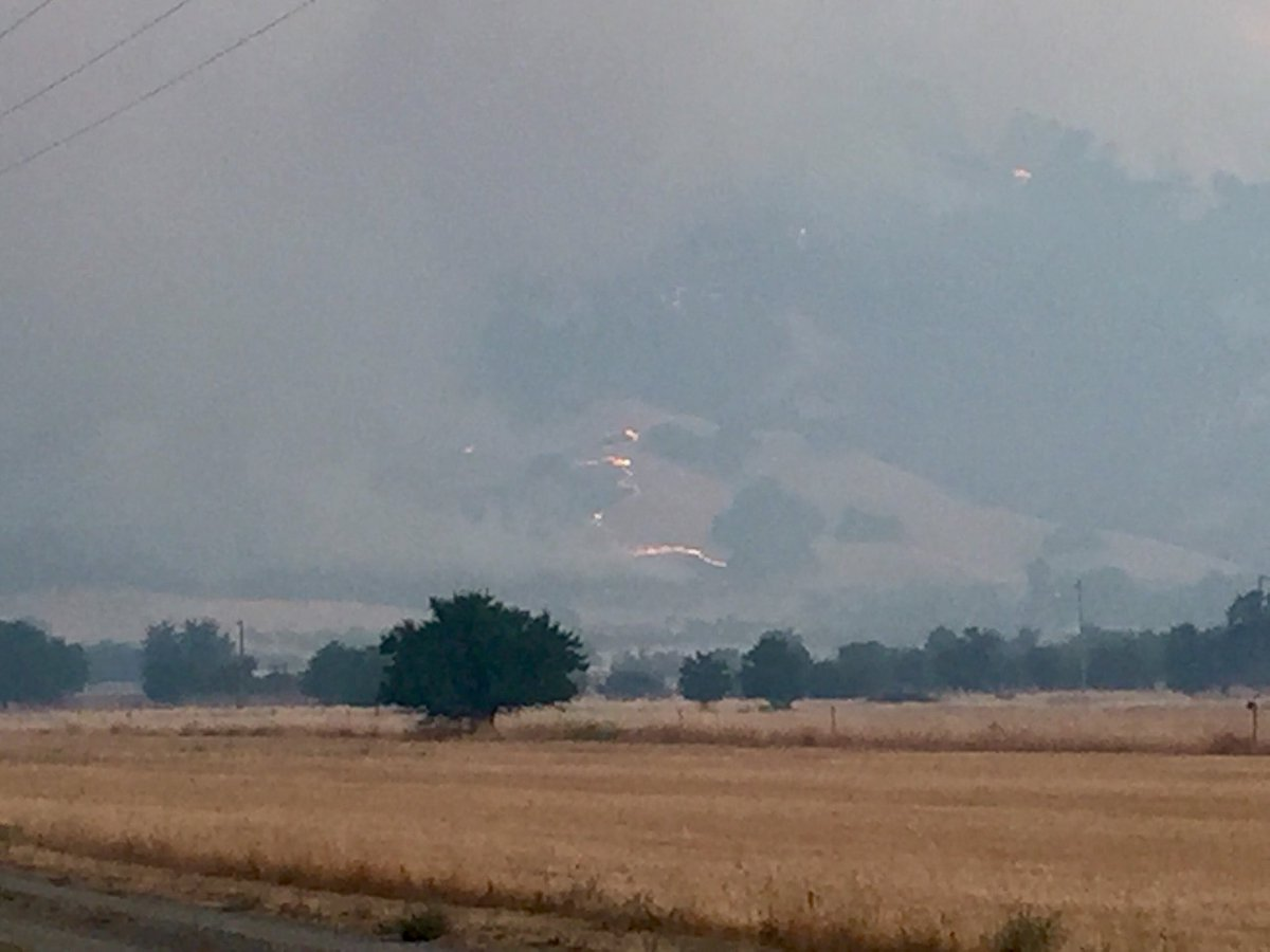 <div class='meta'><div class='origin-logo' data-origin='none'></div><span class='caption-text' data-credit='KGO-TV'>The County Fire is pictured in Yolo County, Calif. on Monday, July 2, 2018.</span></div>