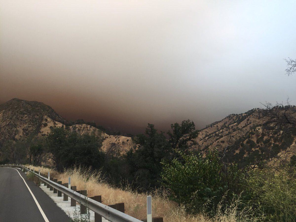 <div class='meta'><div class='origin-logo' data-origin='none'></div><span class='caption-text' data-credit='KGO-TV'>It was an eerie sight along Hwy 128 near Lake Berryessa on Sunday, July 1, 2018.</span></div>