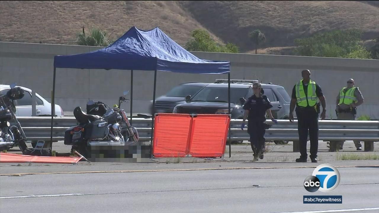 motorcycle shooting 215  Motorcyclist fatally shot on 210 Freeway in San Bernardino | abc7.com