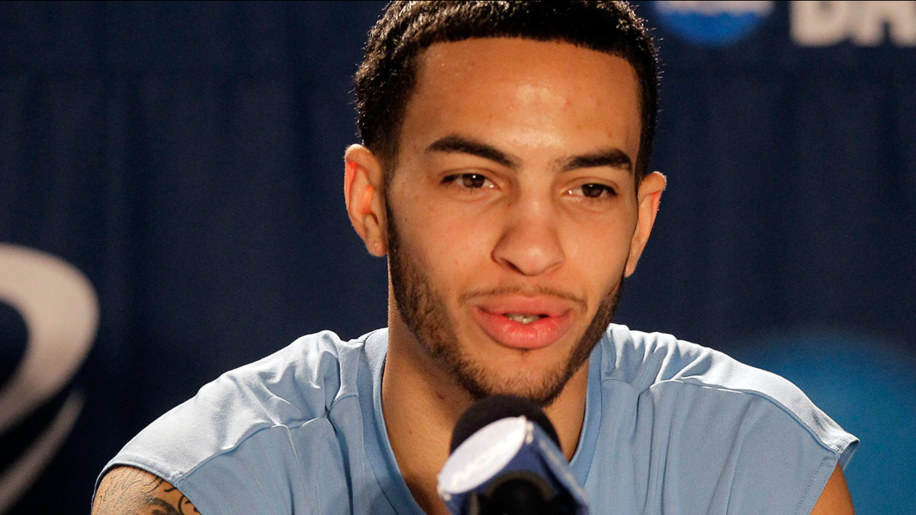 UCLA's Tyler Honeycutt speaks during an NCAA college basketball news conference in Tampa, Fla., Friday March 18, 2011.