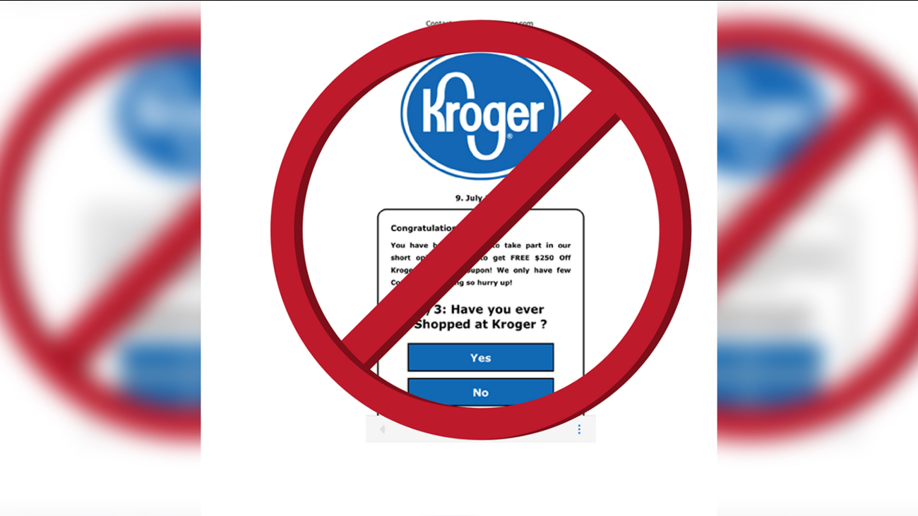 Kroger warns about fake $250 shopping coupon on social media | abc11.com