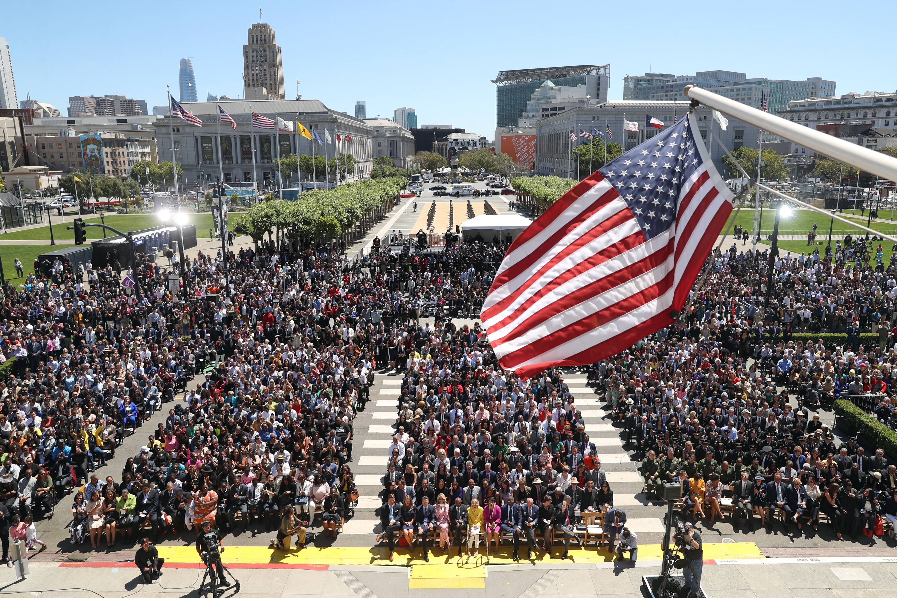 <div class='meta'><div class='origin-logo' data-origin='none'></div><span class='caption-text' data-credit='The Chronicle'>The crowd is seen during the inauguration of San Francisco Mayor London Breed at City Hall in San Francisco on Wednesday, July 11, 2018.</span></div>
