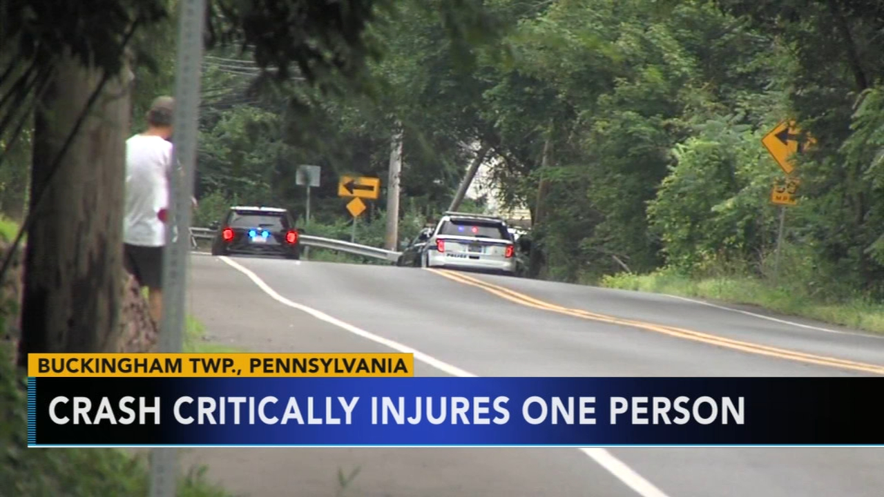 Bucks County crash leaves one person critically injured