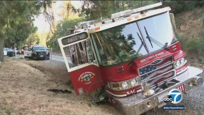 california man arrested for taking stolen fire truck on joy ride