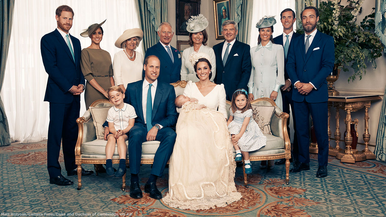The Royal Family Arrives At The Christening Of Prince Louis