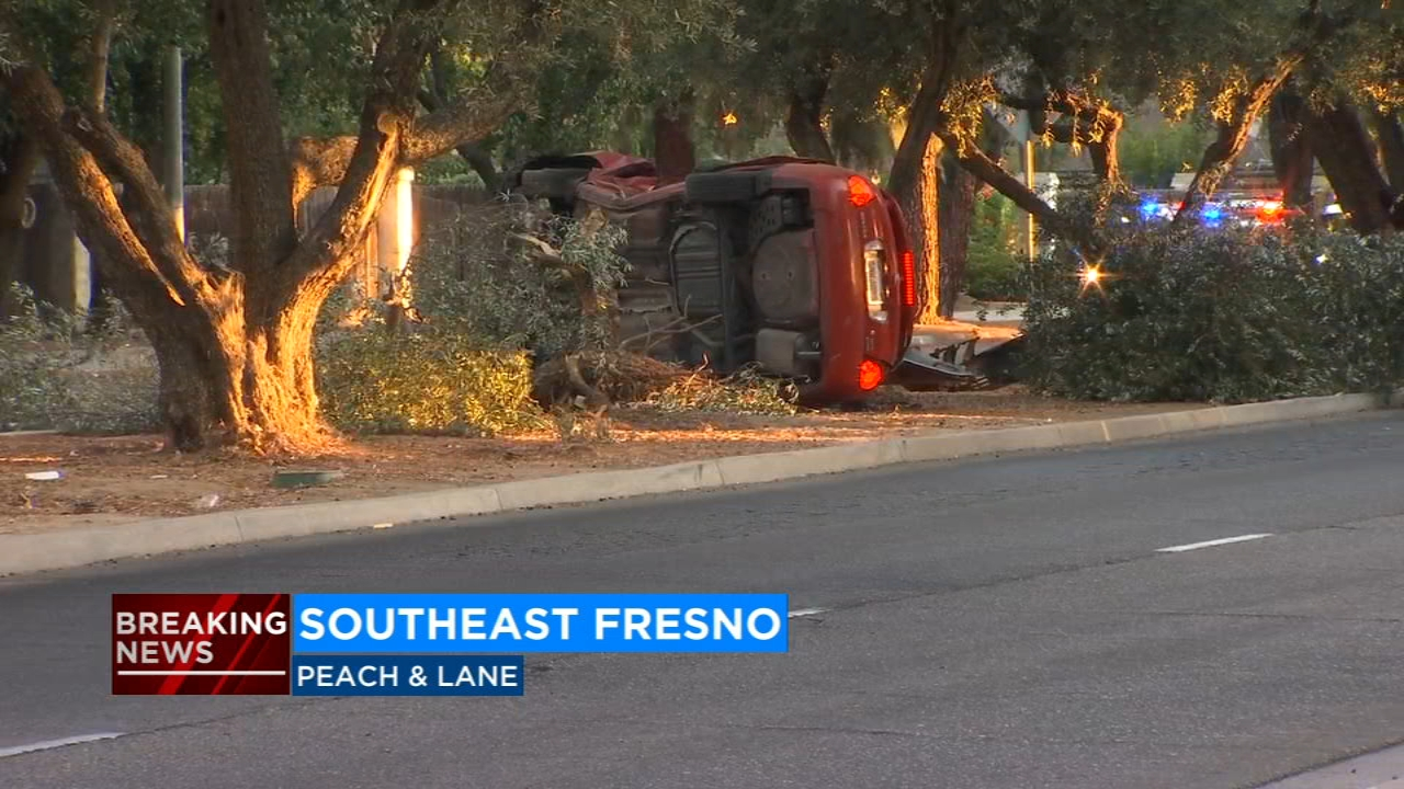 man killed after car flips and hits tree in southeast fresno | abc30