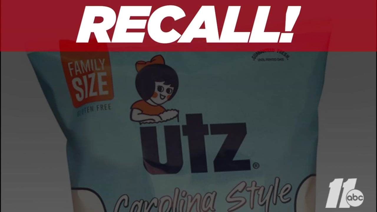 Utz recalls Carolina Style barbecue potato chips for undeclared soy