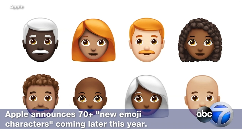 Apple adding dozens of new emojis